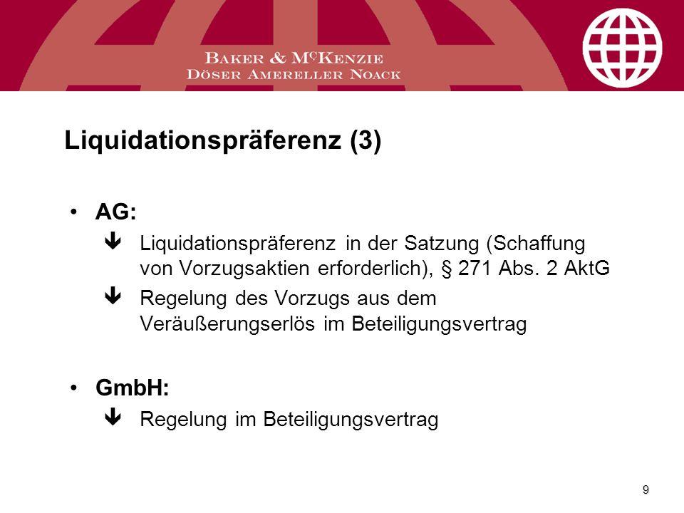 Liquidationspräferenz (3)