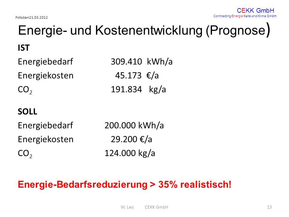 Energie- und Kostenentwicklung (Prognose)