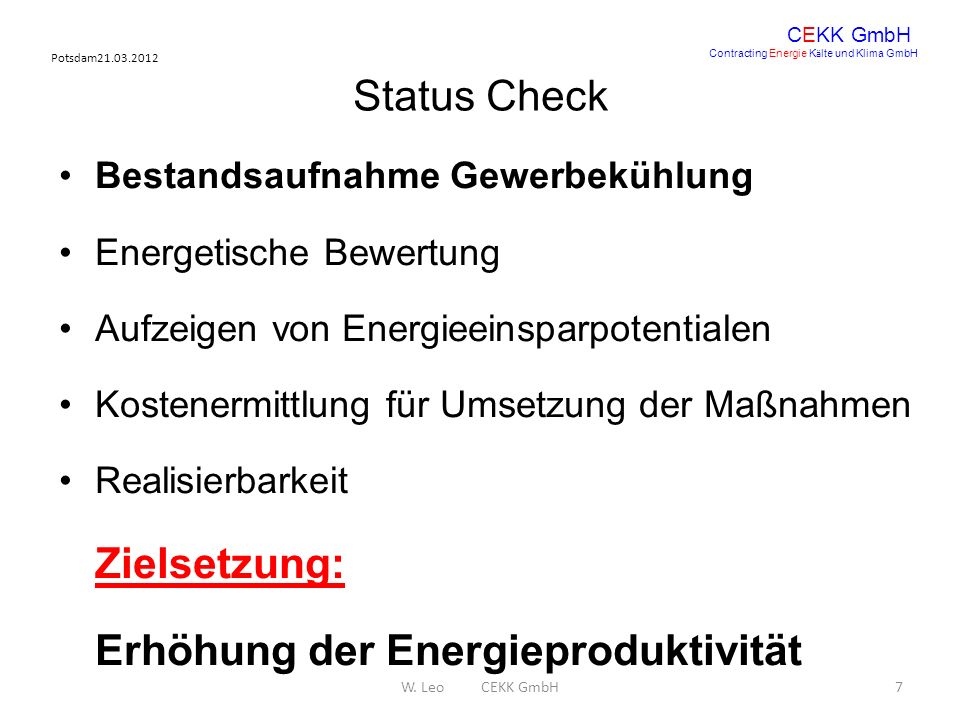 Erhöhung der Energieproduktivität