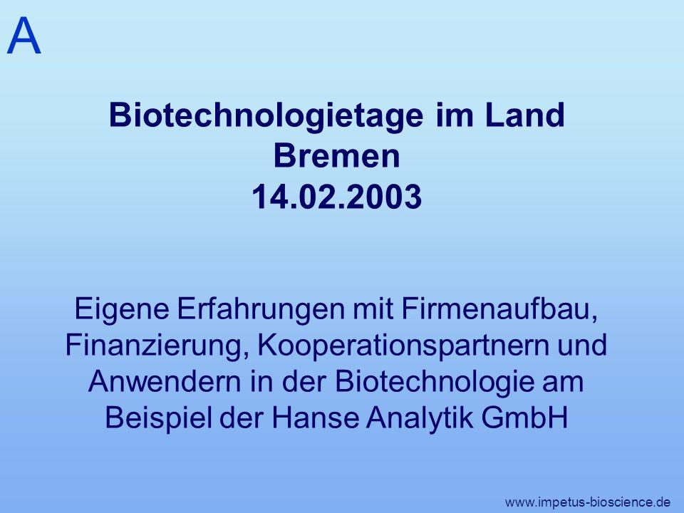 Biotechnologietage im Land Bremen