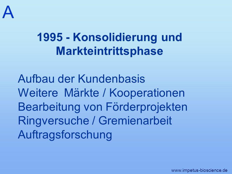 1995 - Konsolidierung und Markteintrittsphase