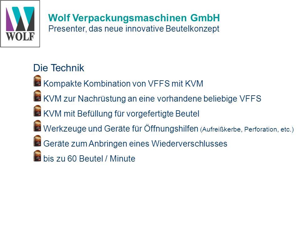 Die Technik Kompakte Kombination von VFFS mit KVM