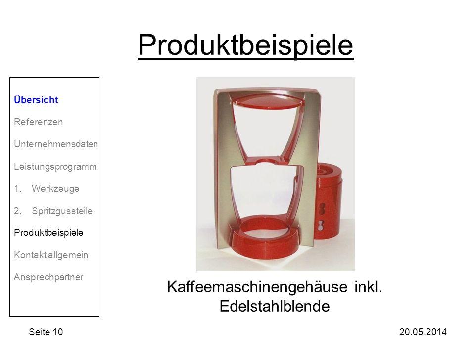 Kaffeemaschinengehäuse inkl. Edelstahlblende
