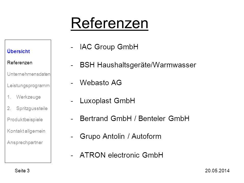 Referenzen IAC Group GmbH BSH Haushaltsgeräte/Warmwasser Webasto AG