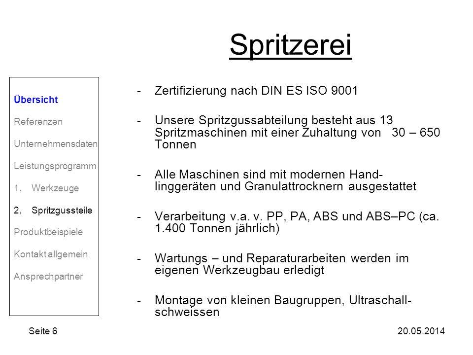 Spritzerei Zertifizierung nach DIN ES ISO 9001