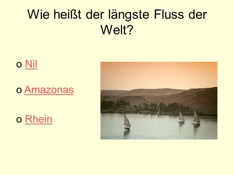 Wie heißt der längste Fluss der Welt