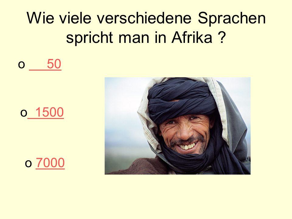 Wie viele verschiedene Sprachen spricht man in Afrika