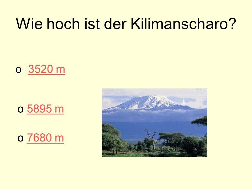 Wie hoch ist der Kilimanscharo