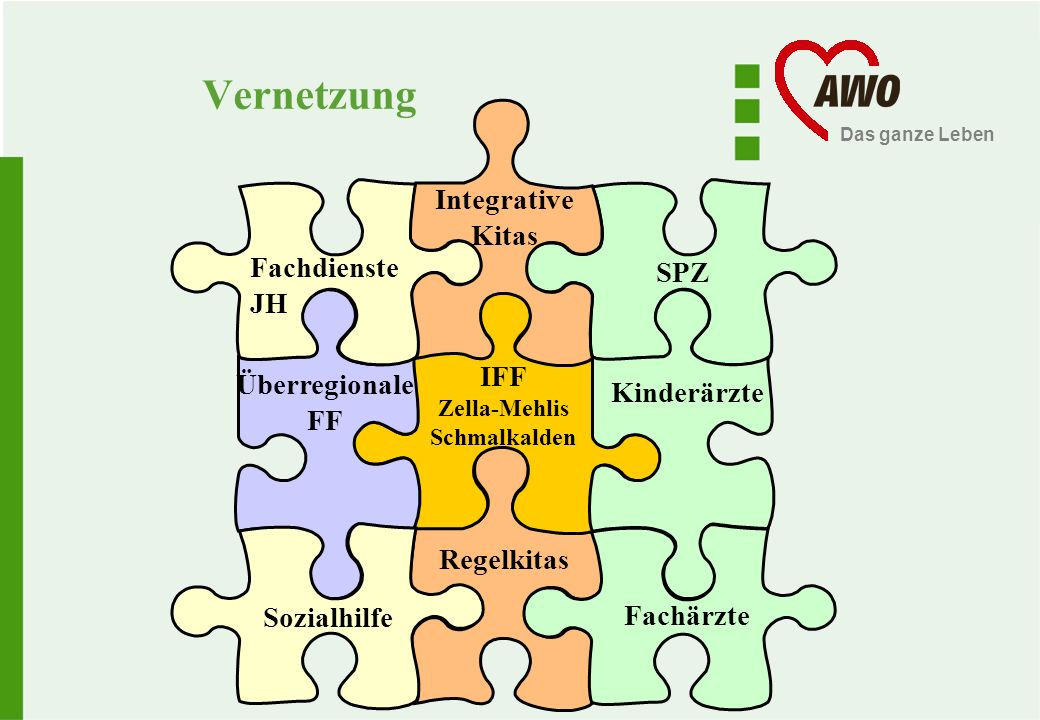 Vernetzung Integrative Kitas Fachdienste JH SPZ Überregionale FF IFF