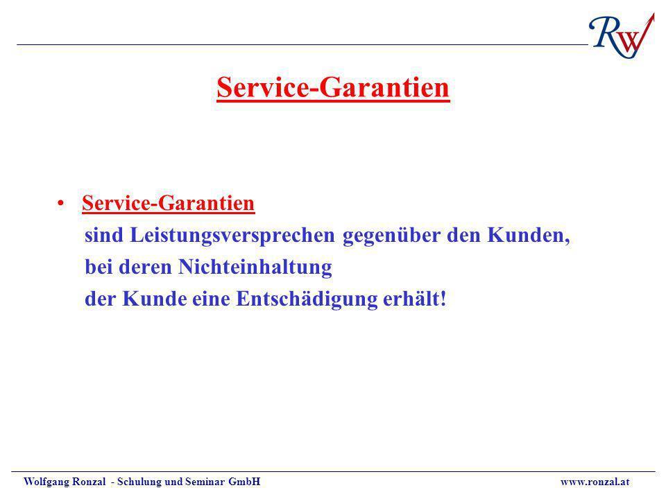 Service-Garantien Service-Garantien