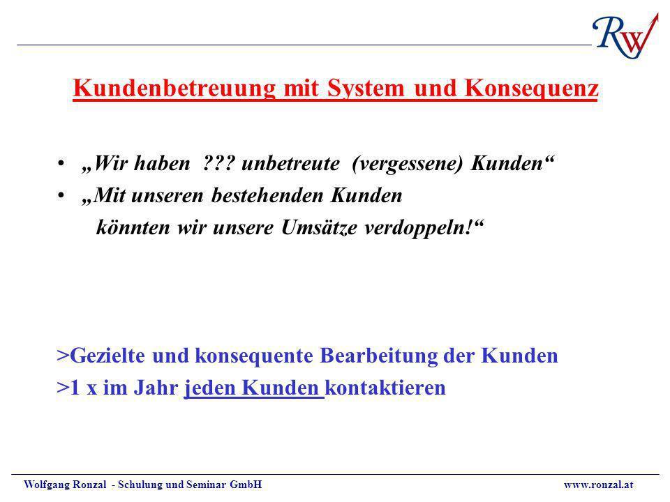 Kundenbetreuung mit System und Konsequenz