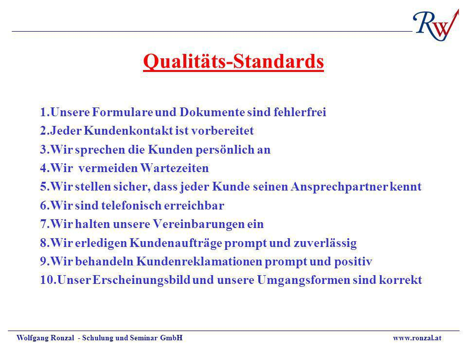 Qualitäts-Standards
