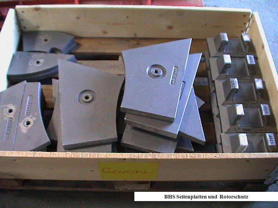 BHS Seitenplatten und Rotorschutz