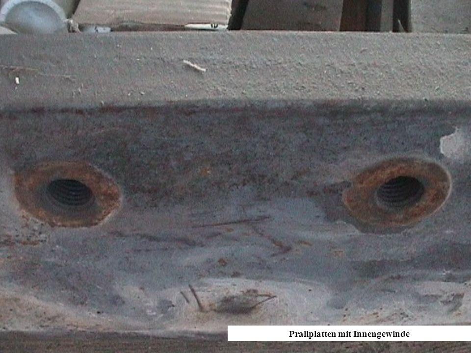 Prallplatten mit Innengewinde
