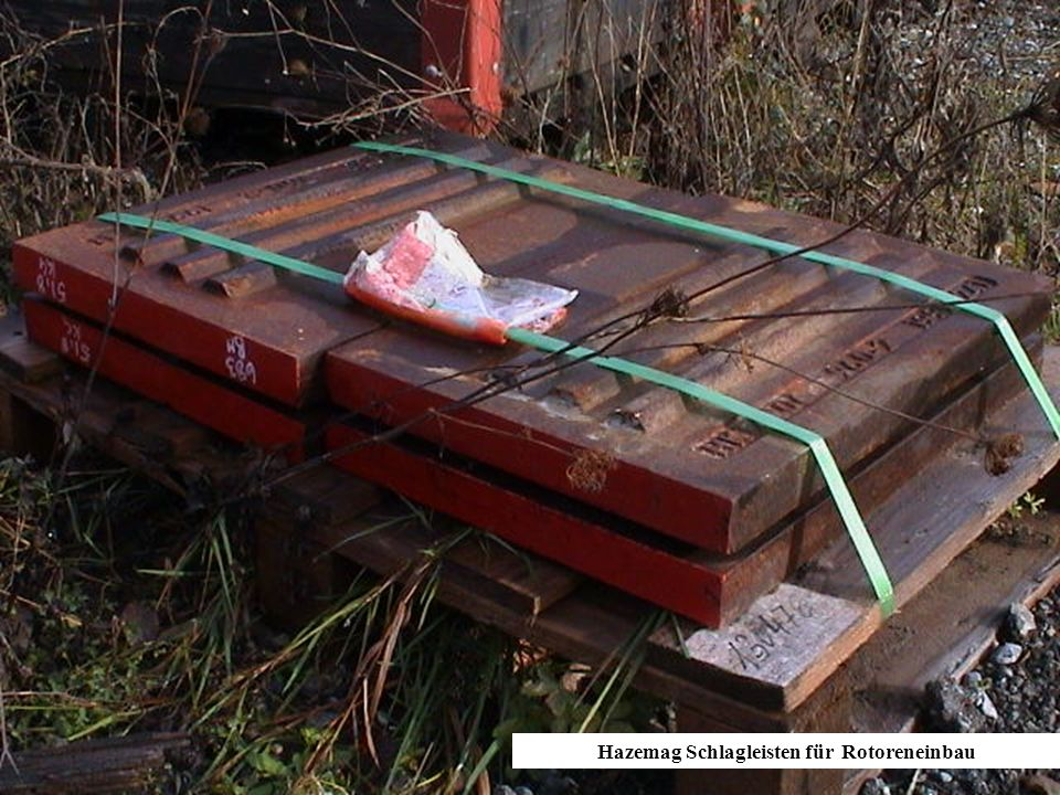 Hazemag Schlagleisten für Rotoreneinbau