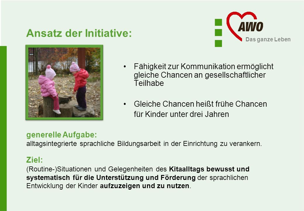 Ansatz der Initiative: