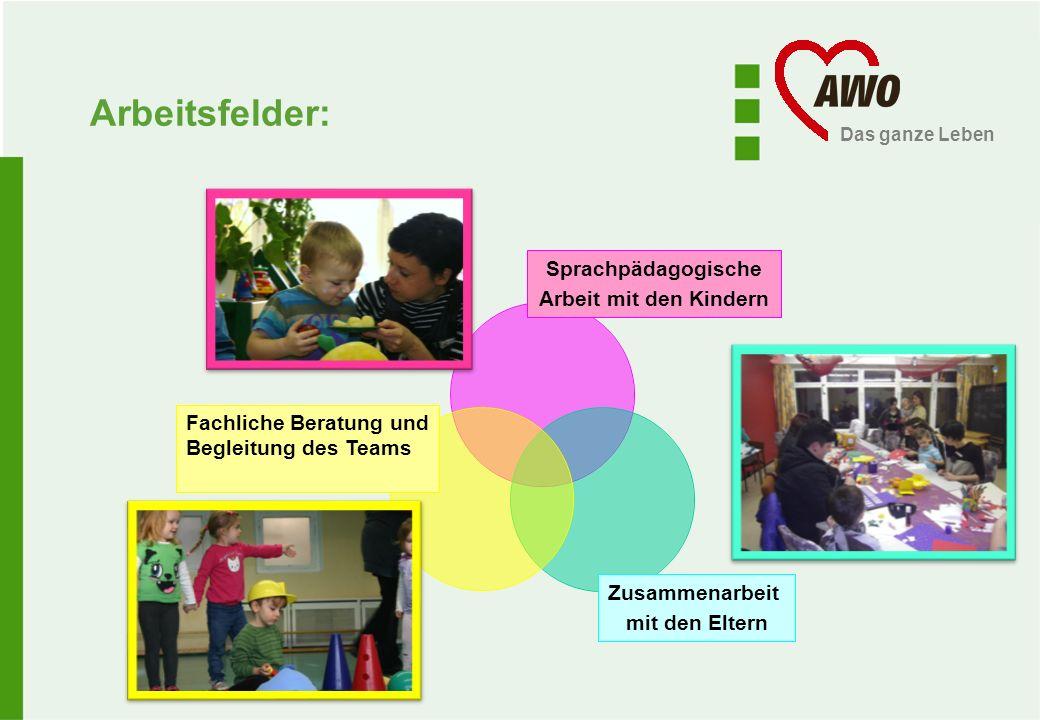 Arbeitsfelder: Sprachpädagogische Arbeit mit den Kindern