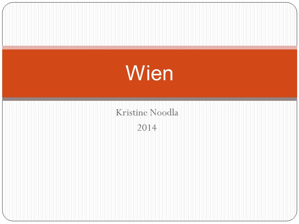 Wien Kristine Noodla 2014