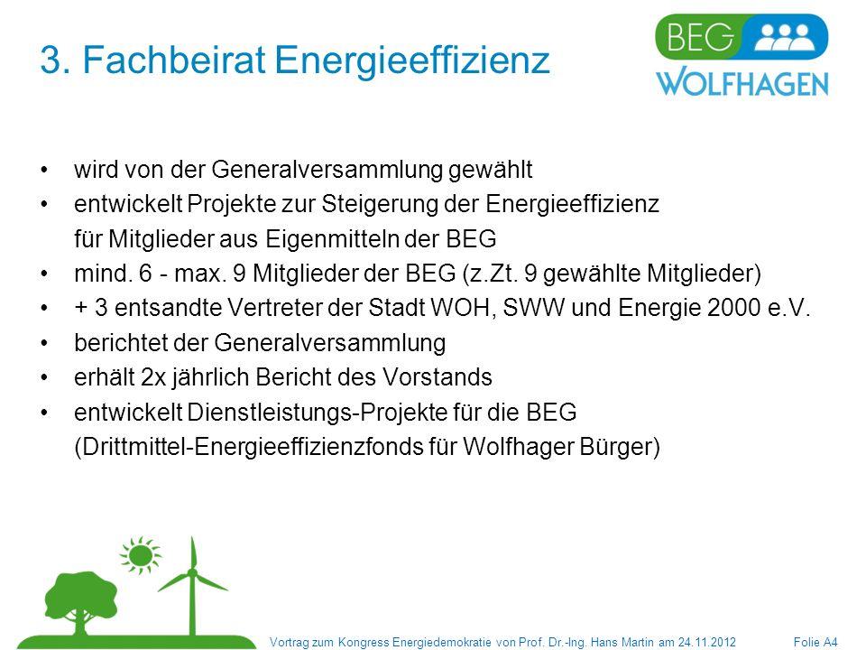 3. Fachbeirat Energieeffizienz