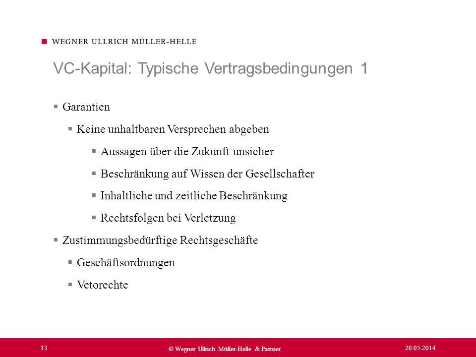 VC-Kapital: Typische Vertragsbedingungen 1