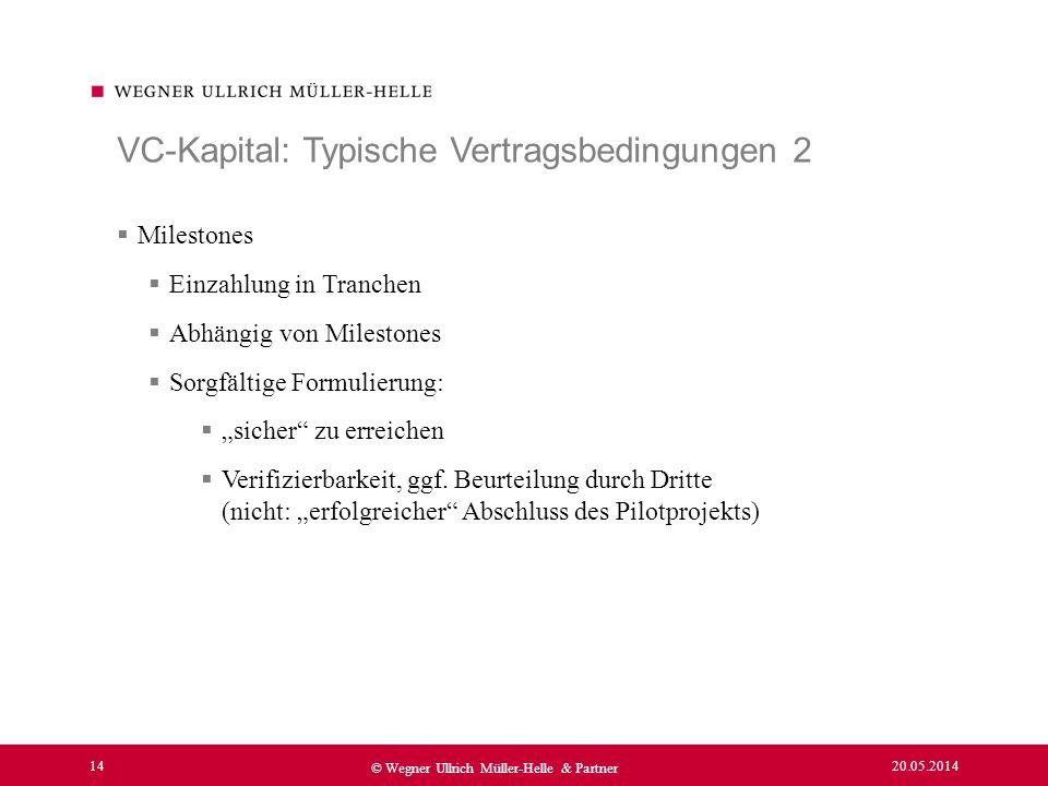 VC-Kapital: Typische Vertragsbedingungen 2