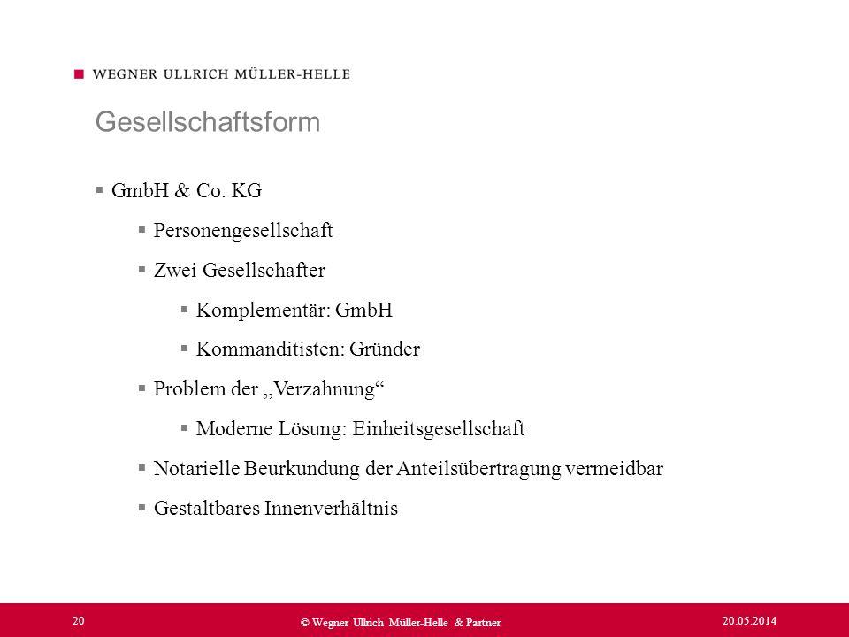 Gesellschaftsform GmbH & Co. KG Personengesellschaft
