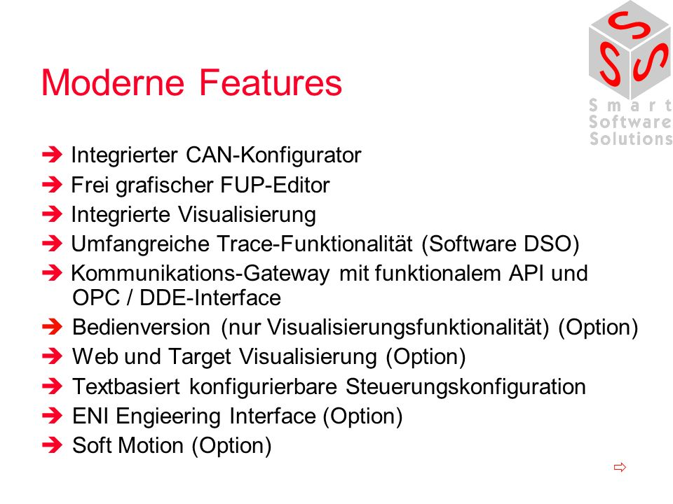Moderne Features  Integrierter CAN-Konfigurator