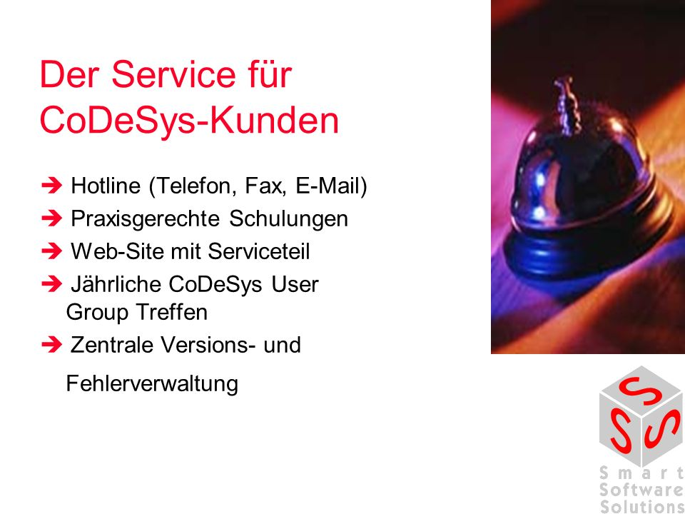 Der Service für CoDeSys-Kunden