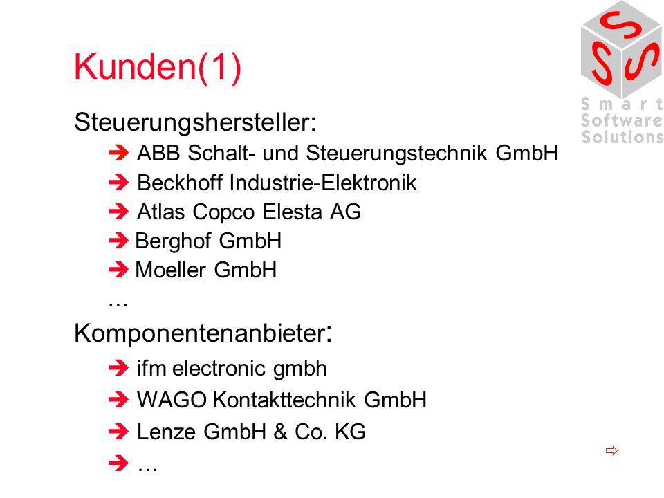 Kunden(1) Steuerungshersteller: Komponentenanbieter: