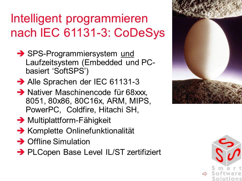 Intelligent programmieren nach IEC 61131-3: CoDeSys