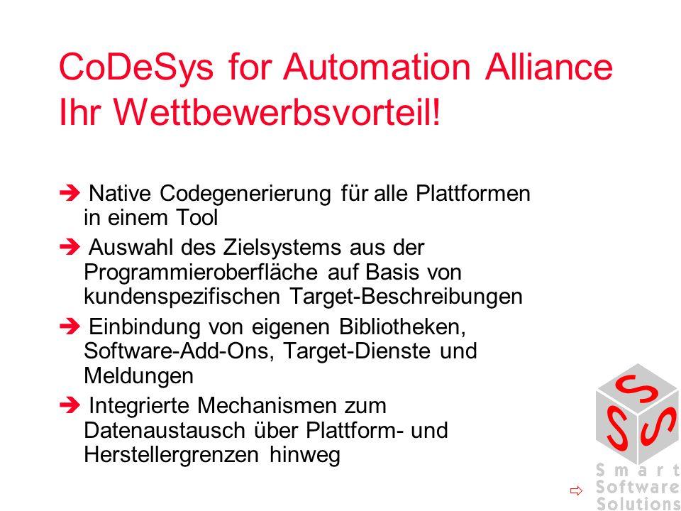 CoDeSys for Automation Alliance Ihr Wettbewerbsvorteil!