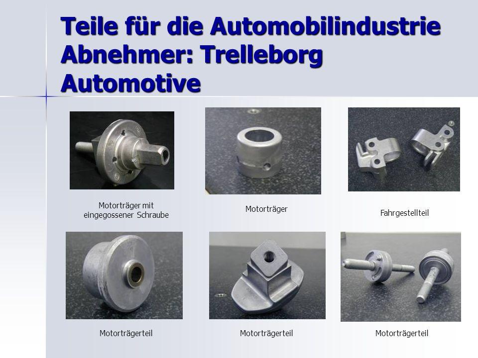 Teile für die Automobilindustrie Abnehmer: Trelleborg Automotive