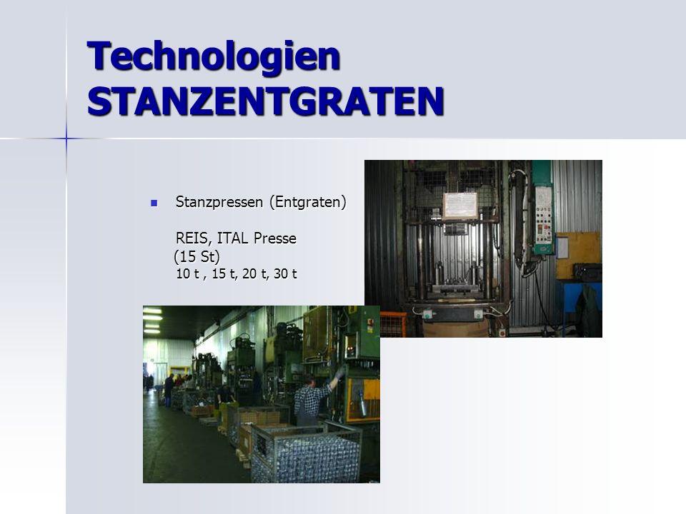 Technologien STANZENTGRATEN