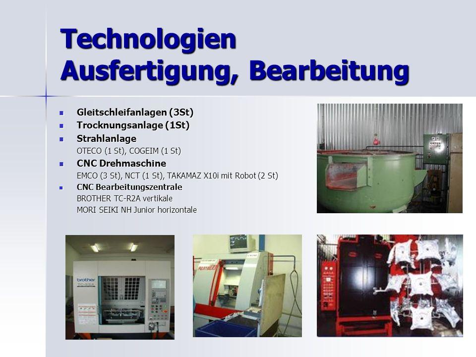 Technologien Ausfertigung, Bearbeitung