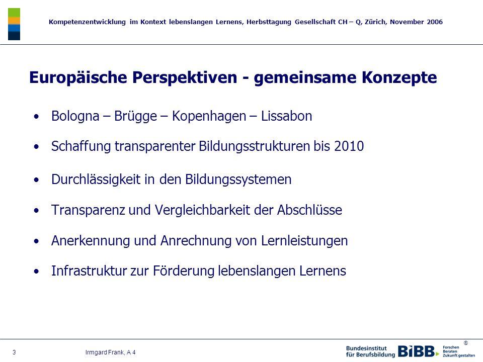 Europäische Perspektiven - gemeinsame Konzepte