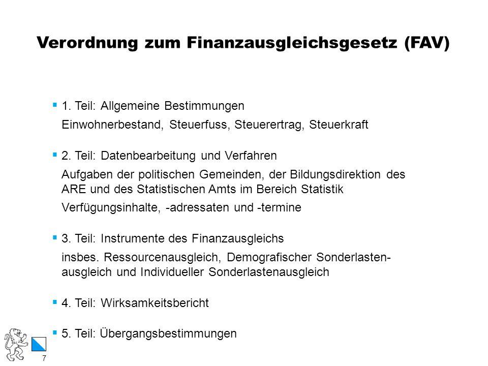 Verordnung zum Finanzausgleichsgesetz (FAV)