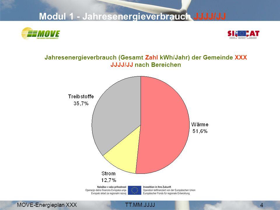 Modul 1 - Jahresenergieverbrauch JJJJ/JJ