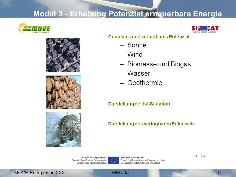 Modul 3 - Erhebung Potenzial erneuerbare Energie