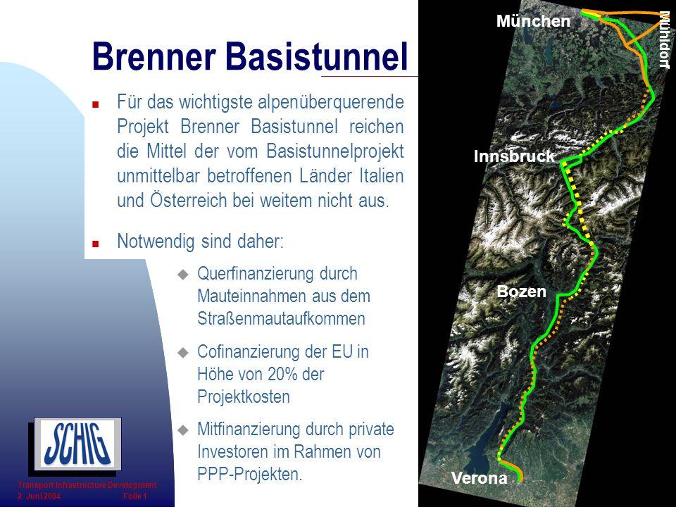 Bozen Verona. München. Innsbruck. Mühldorf. Brenner Basistunnel.