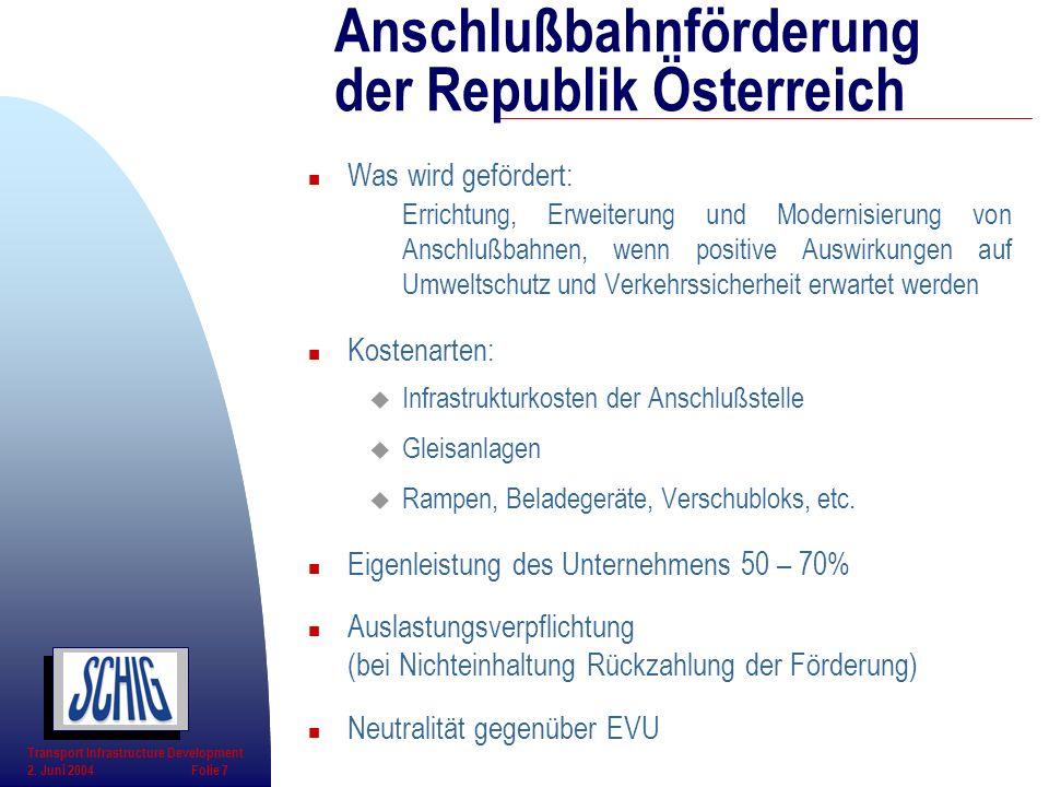 Anschlußbahnförderung der Republik Österreich