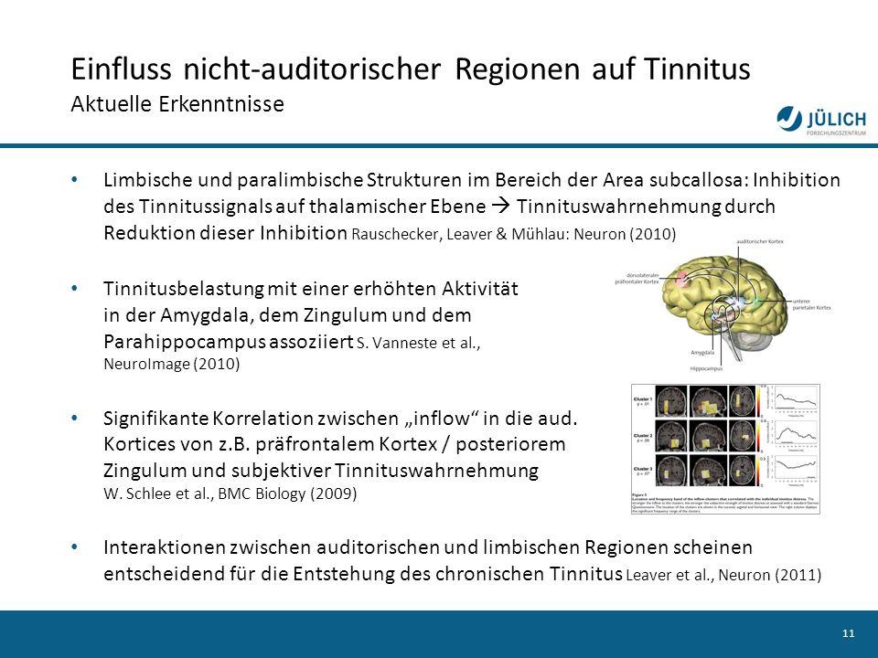 Einfluss nicht-auditorischer Regionen auf Tinnitus Aktuelle Erkenntnisse