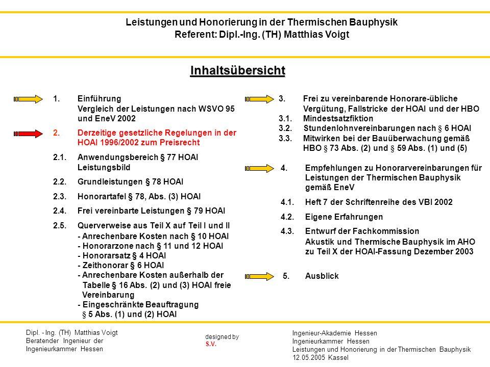 Leistungen und Honorierung in der Thermischen Bauphysik