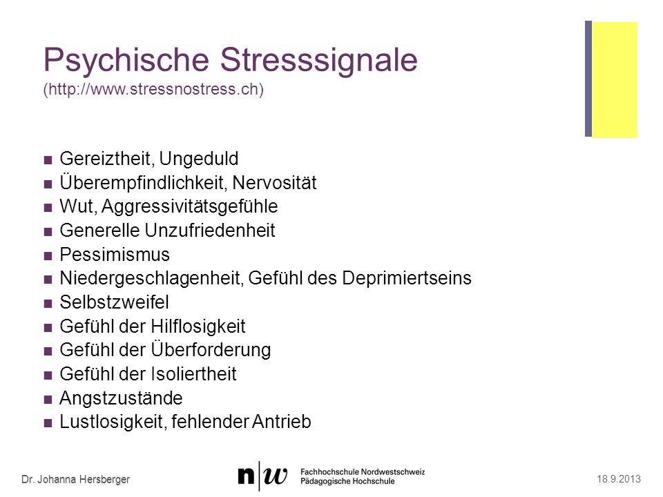 Gedankliche Stresssignale (http://www.stressnostress.ch)