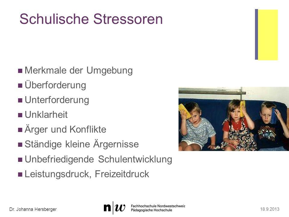 Mehrfachbelastungen Dr. Johanna Hersberger 18.9.2013