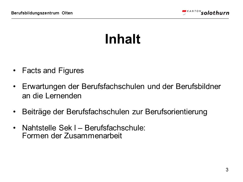 Inhalt Facts and Figures