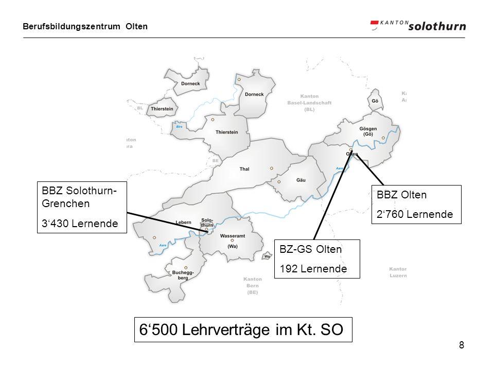 6'500 Lehrverträge im Kt. SO BBZ Solothurn-Grenchen BBZ Olten