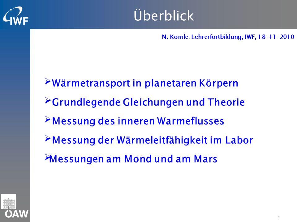Überblick Wärmetransport in planetaren Körpern