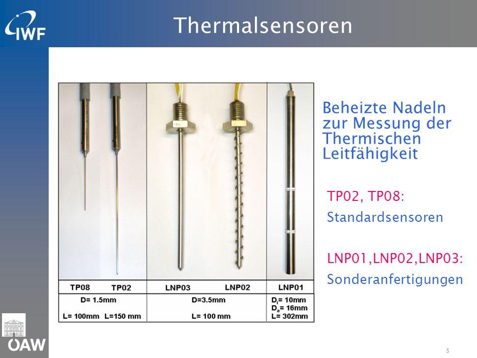 Thermalsensoren Beheizte Nadeln zur Messung der Thermischen