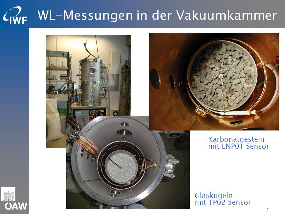 WL-Messungen in der Vakuumkammer
