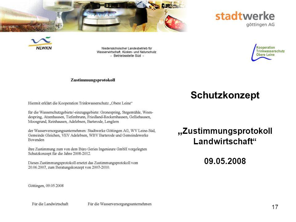 """Schutzkonzept """"Zustimmungsprotokoll Landwirtschaft 09.05.2008"""
